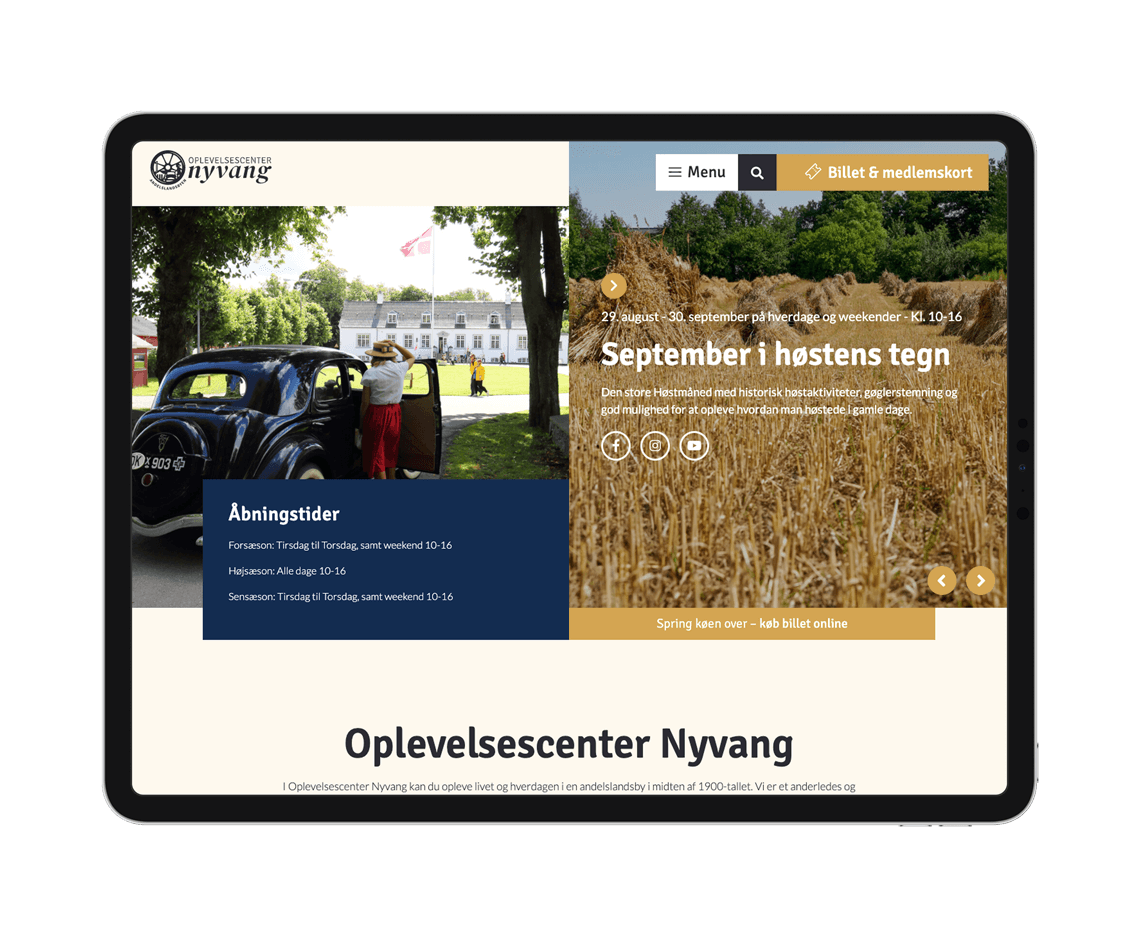 Oplevelsescenter Nyvang Ipad